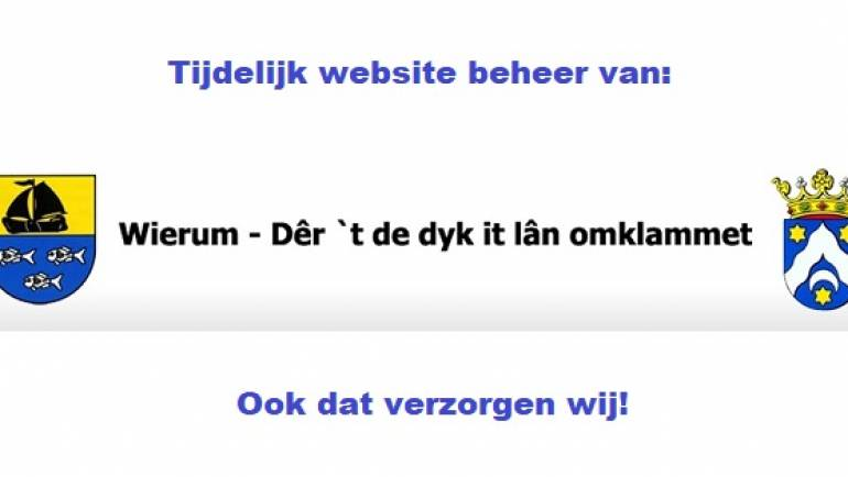 Tijdelijk beheer website Wierum