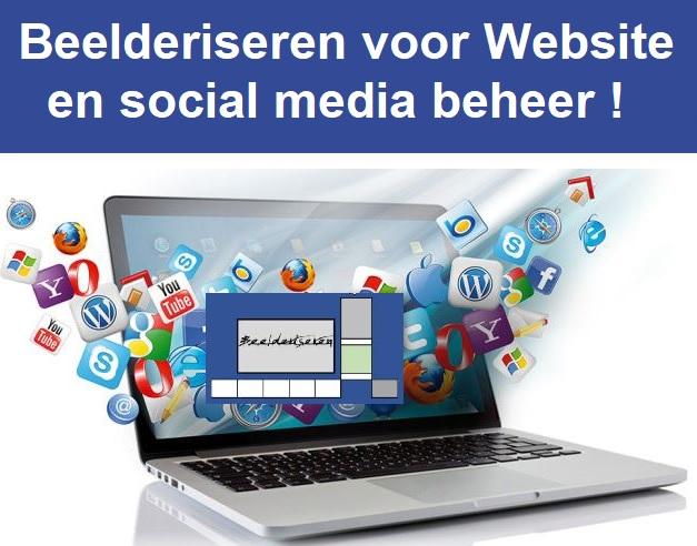 Beelderiseren voor website en social media beheer