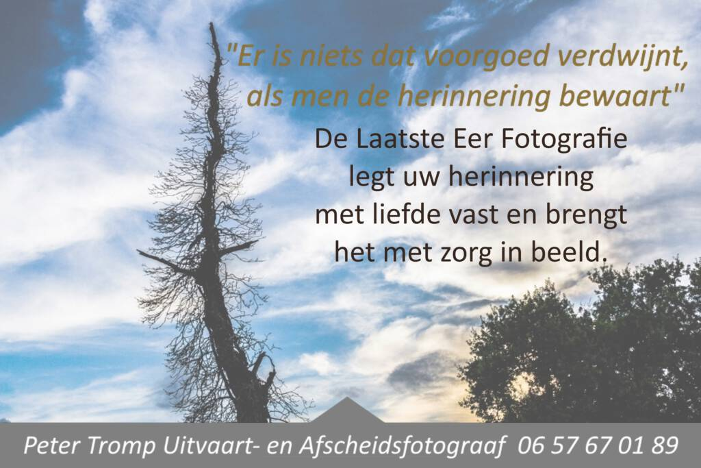 Uitvaart fotograaf voor fotografie in Friesland