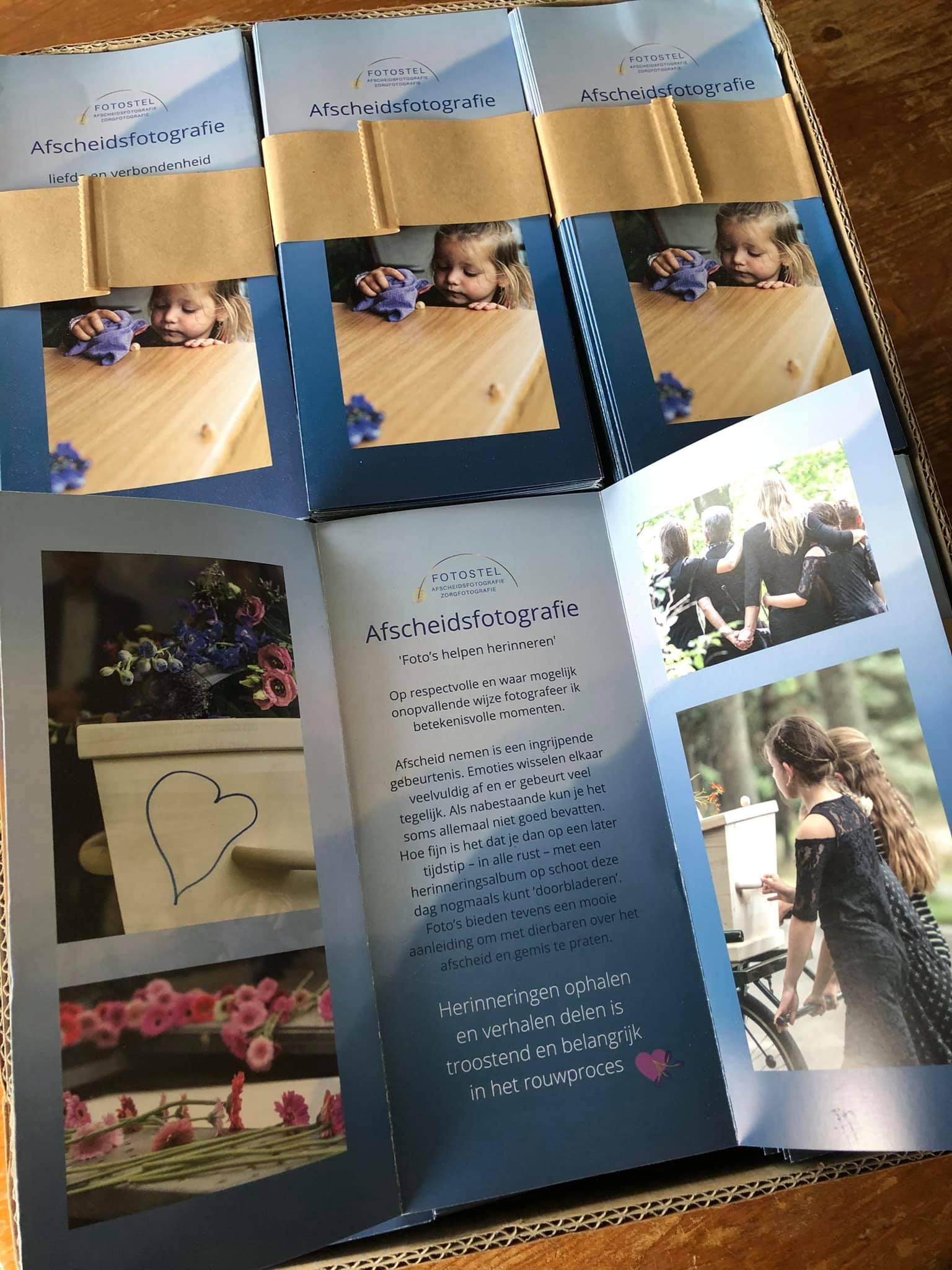 Drukwerk-flyers voor Fotostel mogen verzorgen